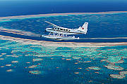 Air Whitsunday Seaplane over the Great Barrier Reef