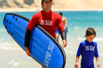 An ideal location for family surf lessons
